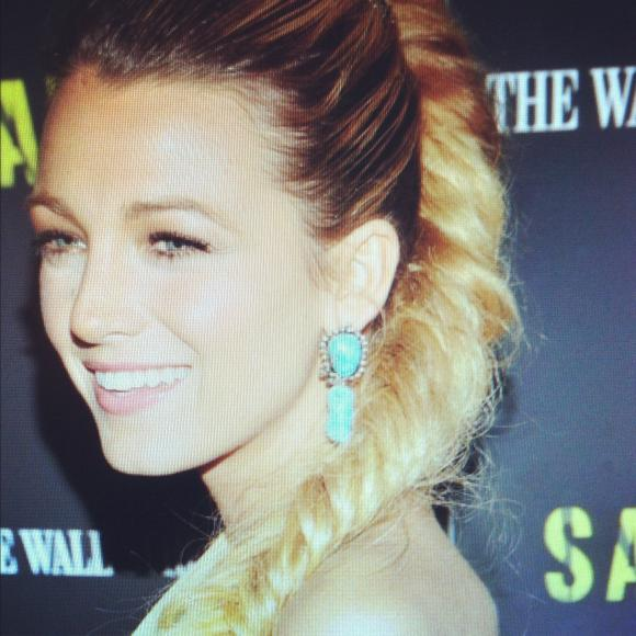 Blake Lively Braid & Turquoise Goddess