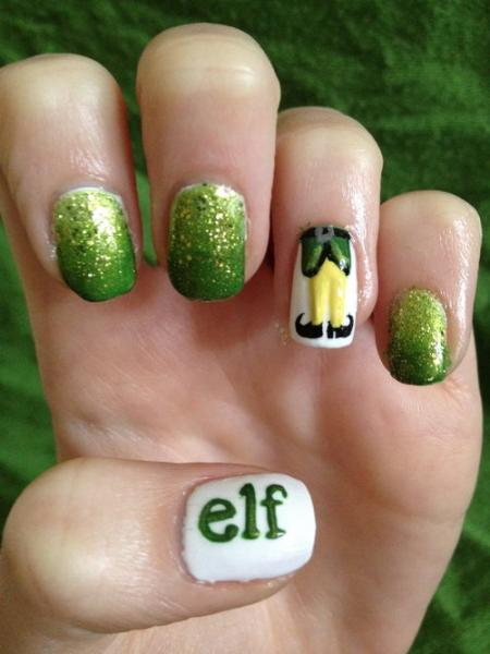 "Nail Art + ""Elf"" is Sheer Perfection: Make Up Monday"