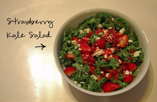 Strawberry Kale Salad (No Cooking Required)