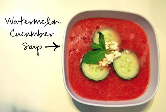 Watermelon-Cucumber Soup (No Cooking Required!)