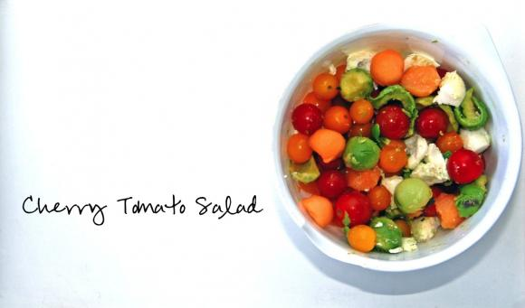 Cherry Tomato Salad (No COOKING…ONLY Eating)